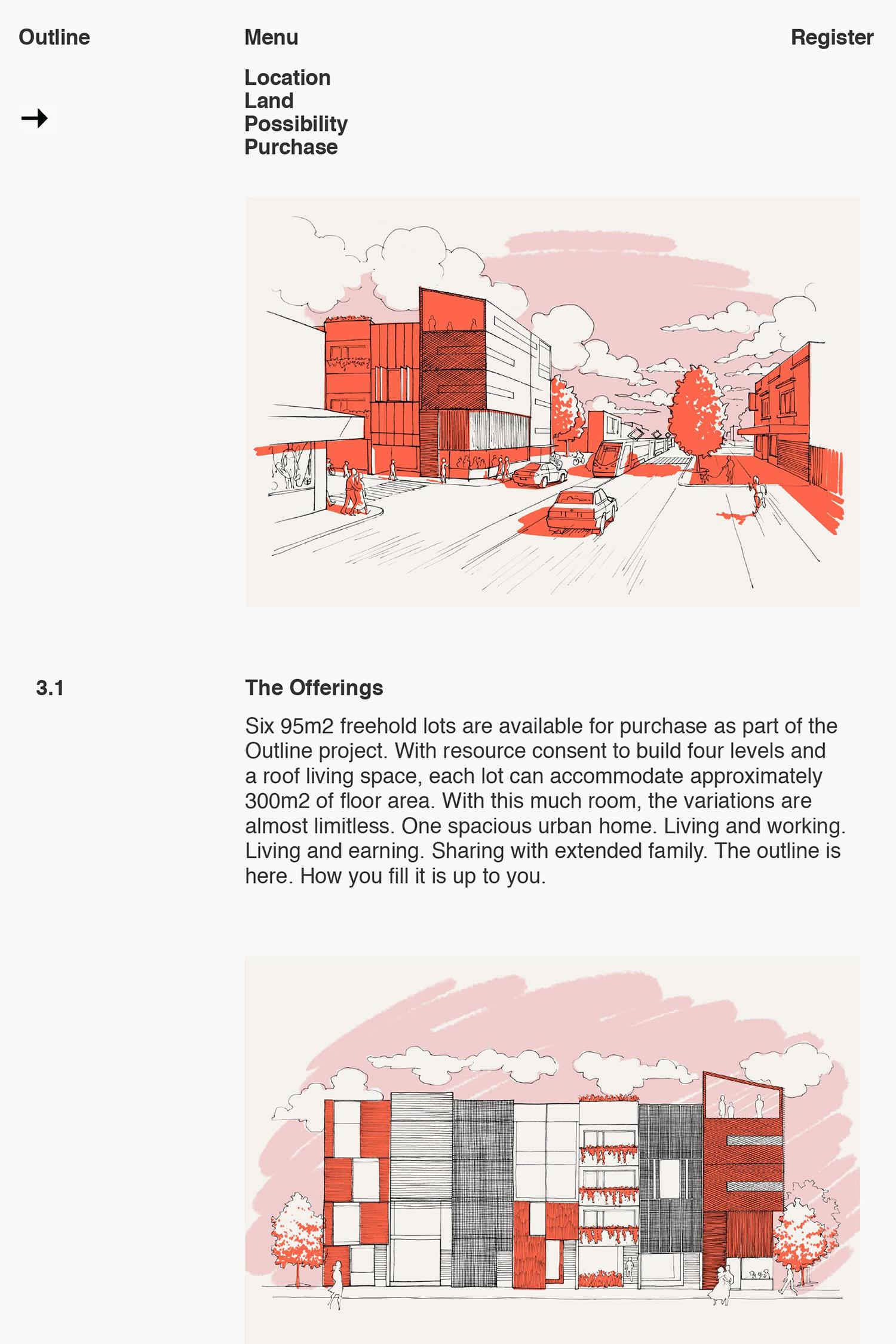 文化社区Outline房地产vi设计,网站设计