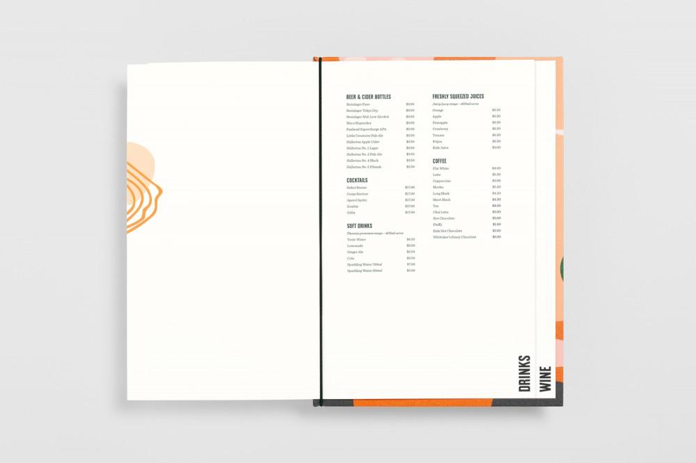 餐厅品牌VI设计,餐牌设计目录页