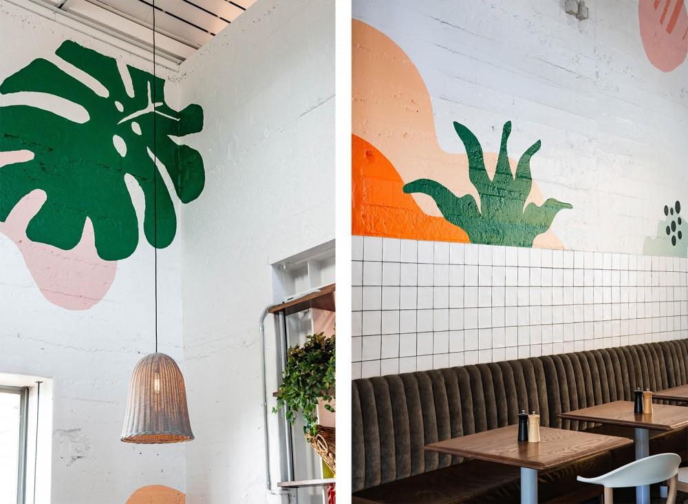 餐厅品牌VI设计,墙面图案设计