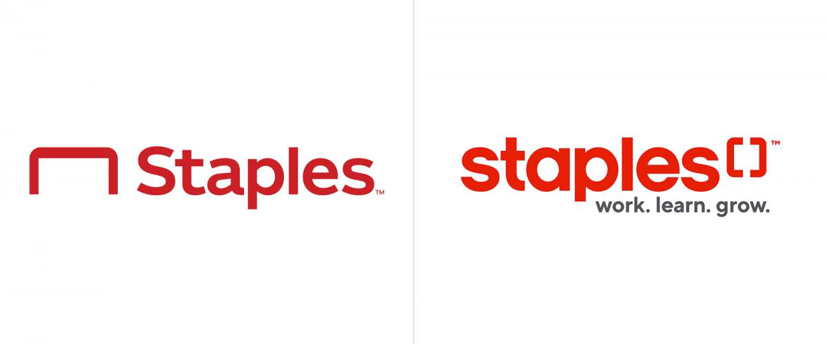 Staples办公用品公司logo升级改造