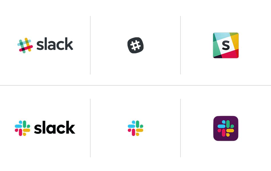 Slack品牌形象设计分析,logo设计前后对比图