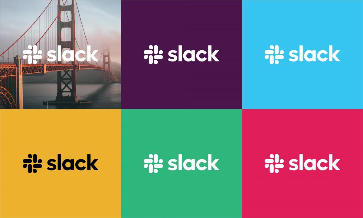 Slack品牌形象设计分析,单色logo应用