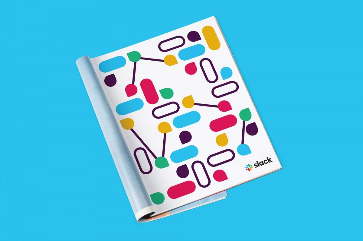 Slack品牌形象设计分析,印刷广告设计