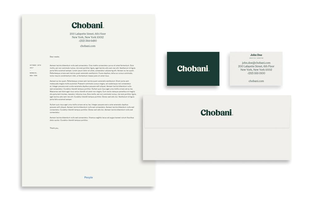 Chobani品牌形象升级的意义,办公应用设计