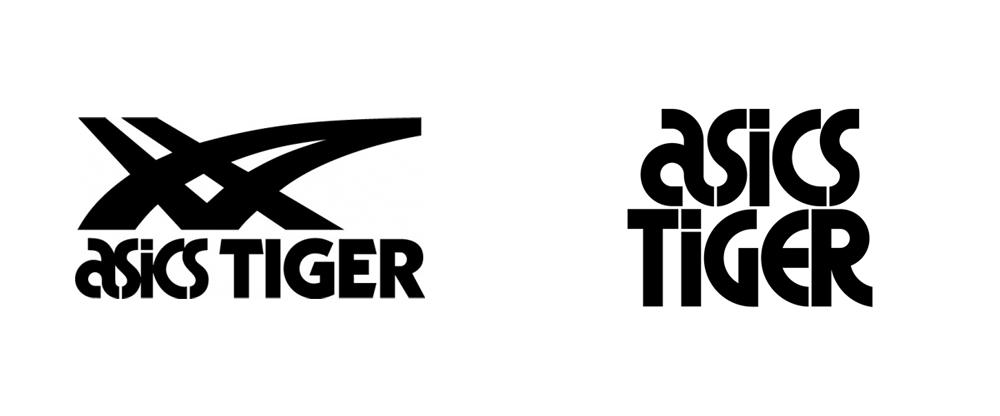 ASICS Tiger服装品牌设计vi升级改造分析, 新旧logo设计对比
