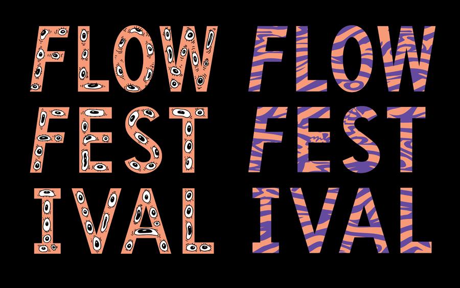 广告设计公司推荐:Flow音乐艺术节平面广告设计,vis设计