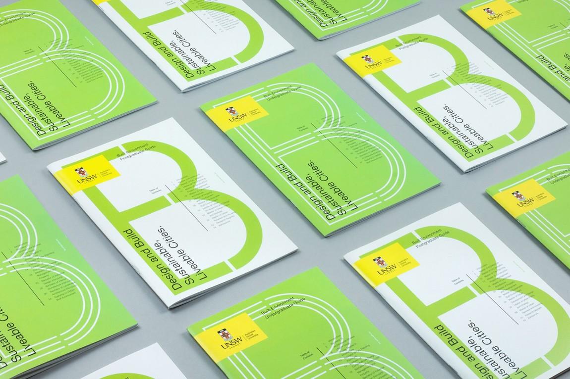 东京UNSW环境建筑公司视觉识别系统设计, 平面设计