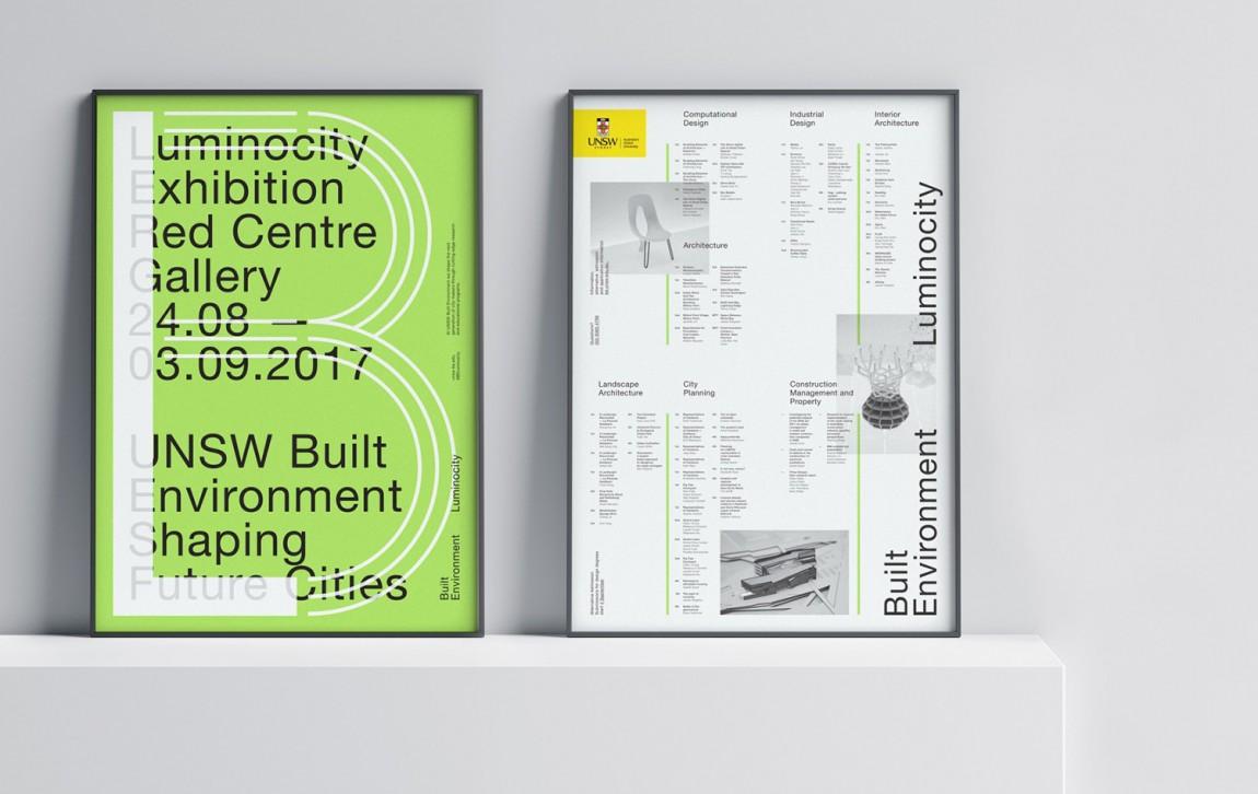 东京UNSW环境建筑公司视觉识别系统设计, 平面海报设计