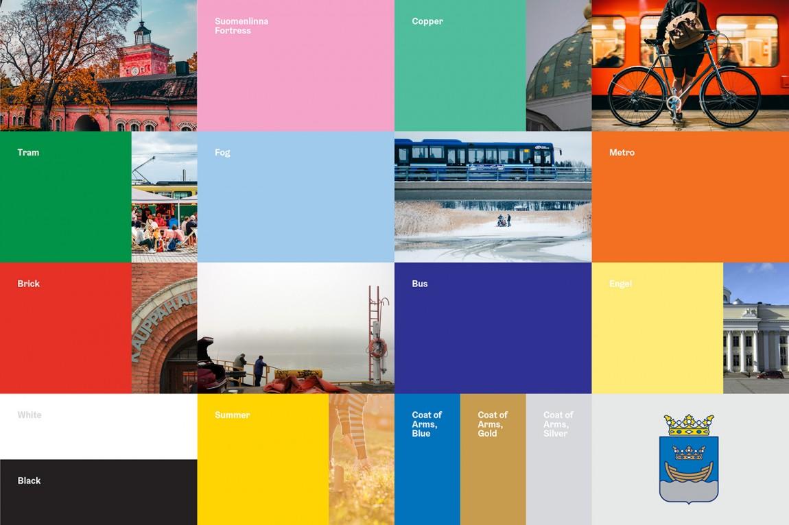 Helsinki芬兰赫尔辛基城市形象设计, 标准色设计
