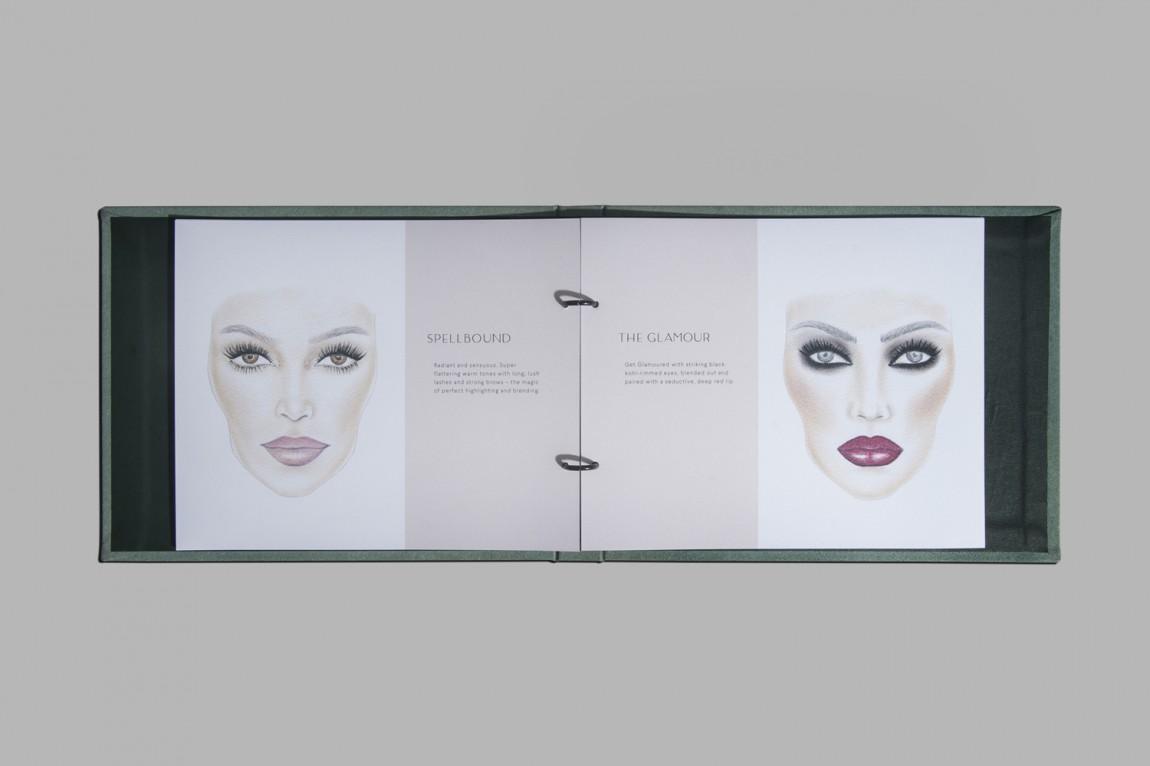 奢华化妆造型沙龙品牌形象全案设计,画册设计
