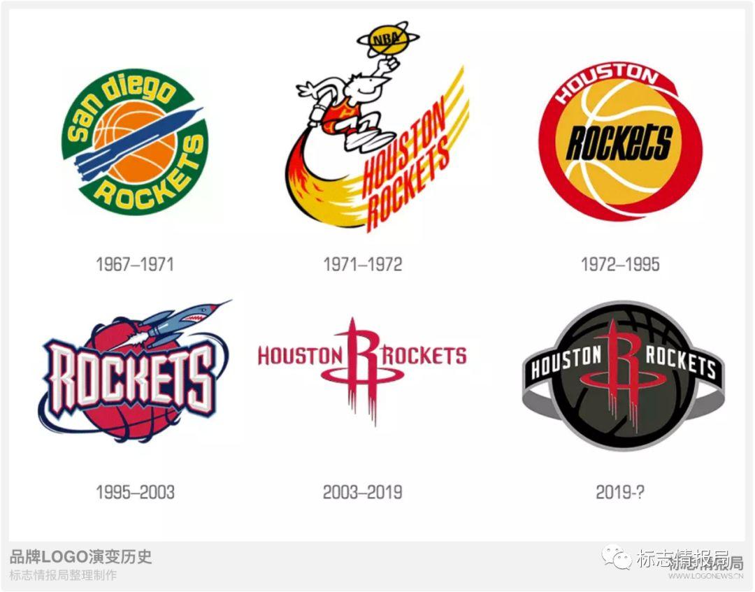 NBA火箭队新LOGO设计演进过程