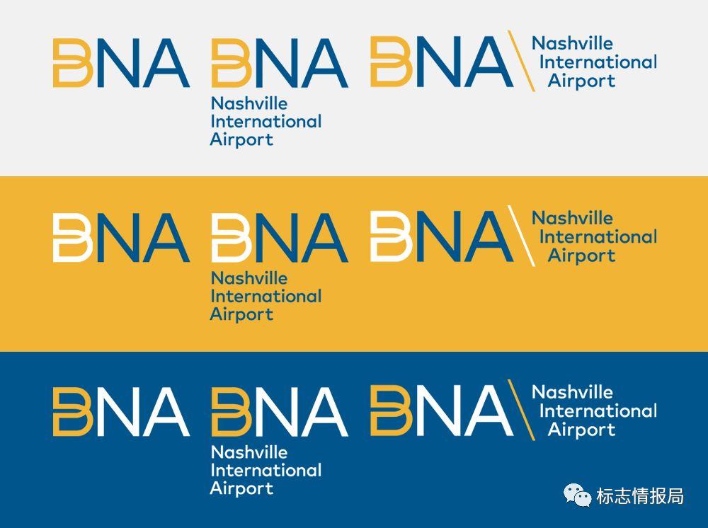 纳什维尔国际机场(BNA)全新品牌形象VI设计
