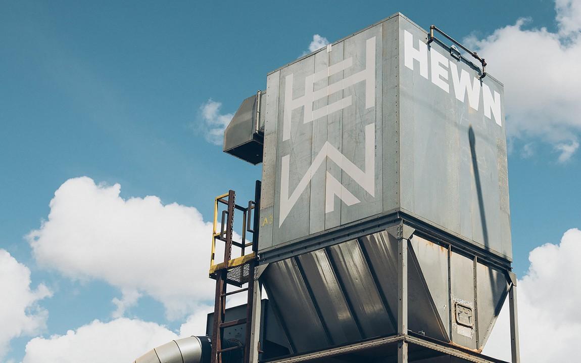 HEWN 创意品牌logo设计:料斗标牌设计