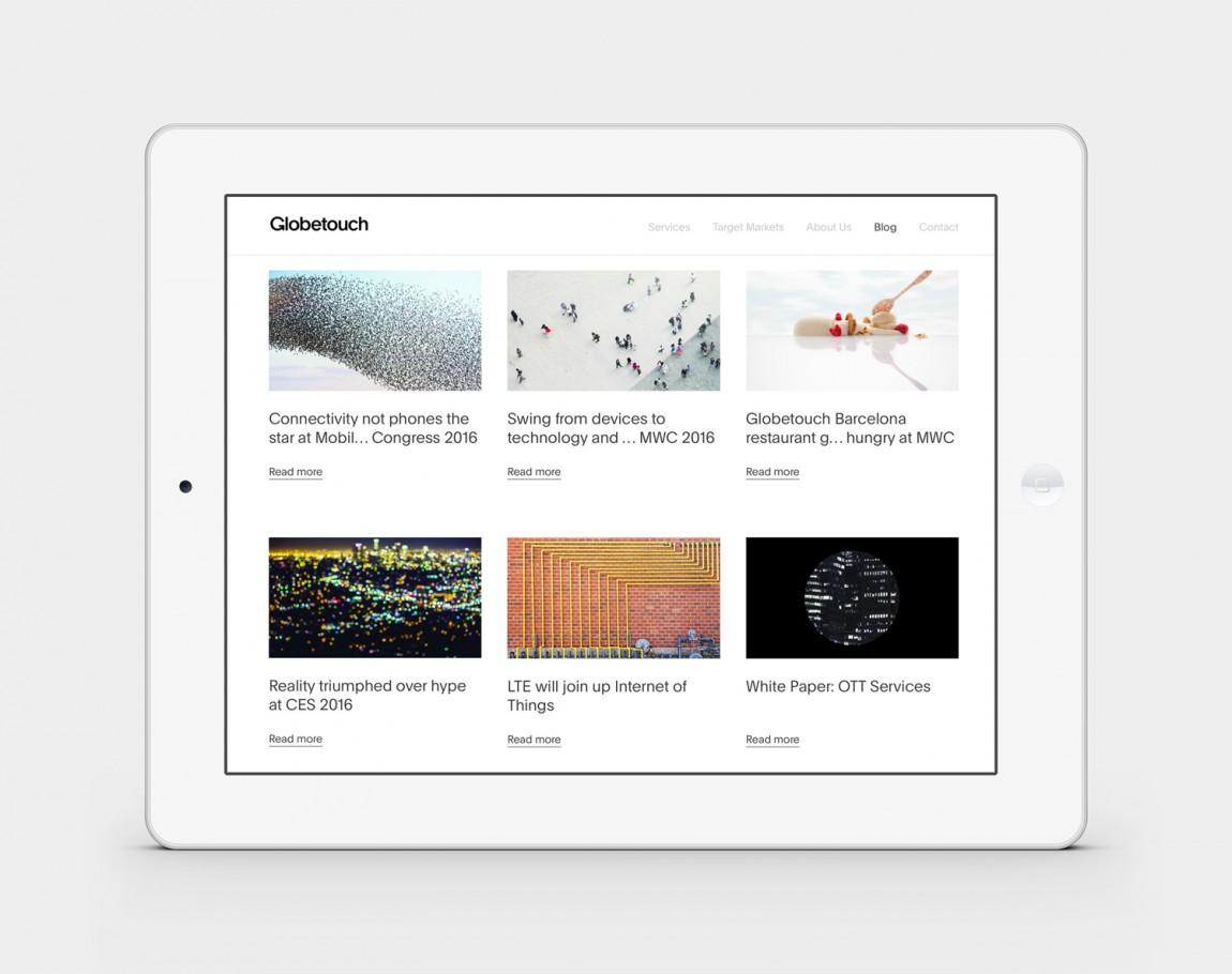 Globetouch通信企业vi视觉形象设计, 网站设计
