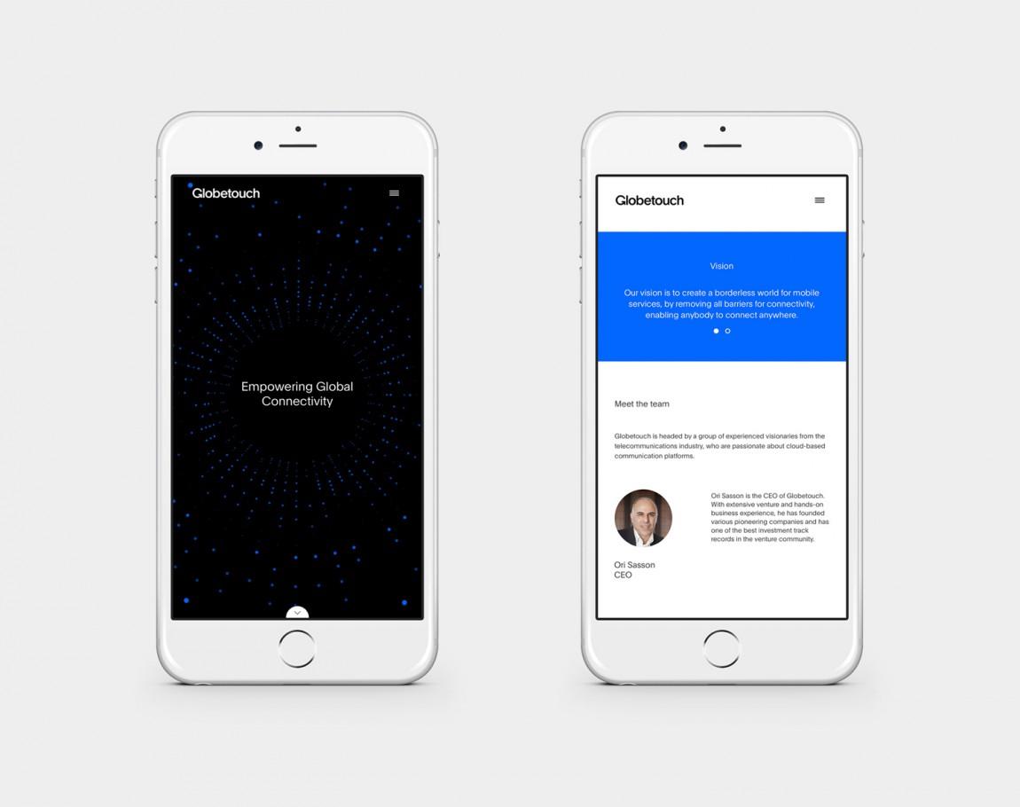 Globetouch通信企业vi视觉形象设计, 手机网站设计