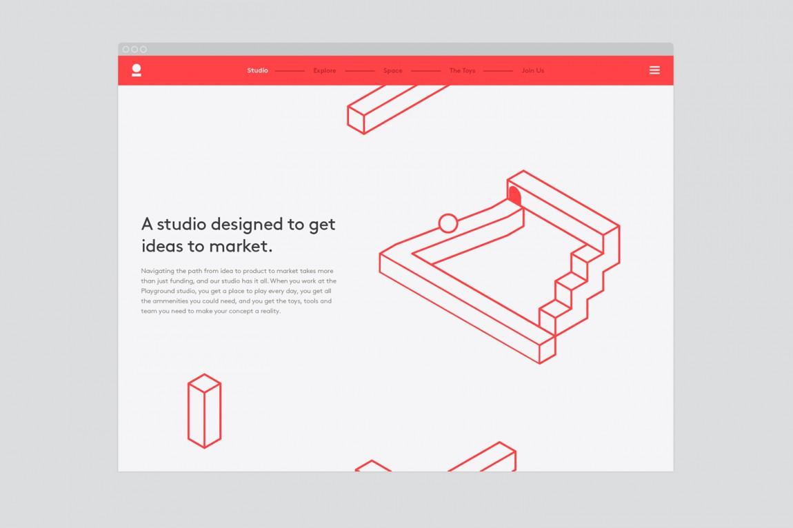美国Playground 创意品牌logo设计:网站设计