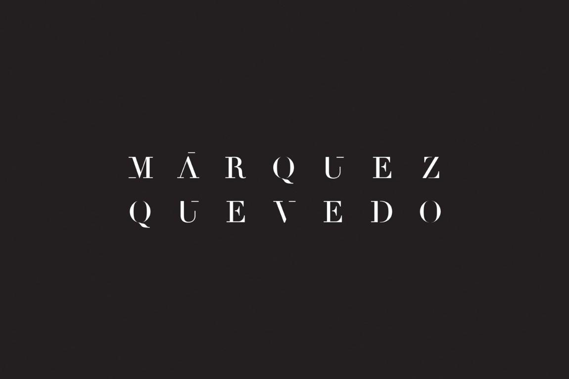 Márquez Quevedo的品牌logo设计,品牌logo标识字体