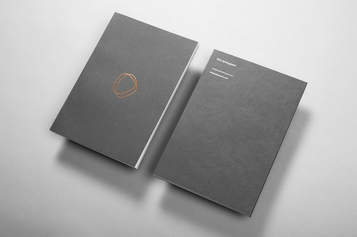 DNA Development 创意品牌logo设计:笔记本设计