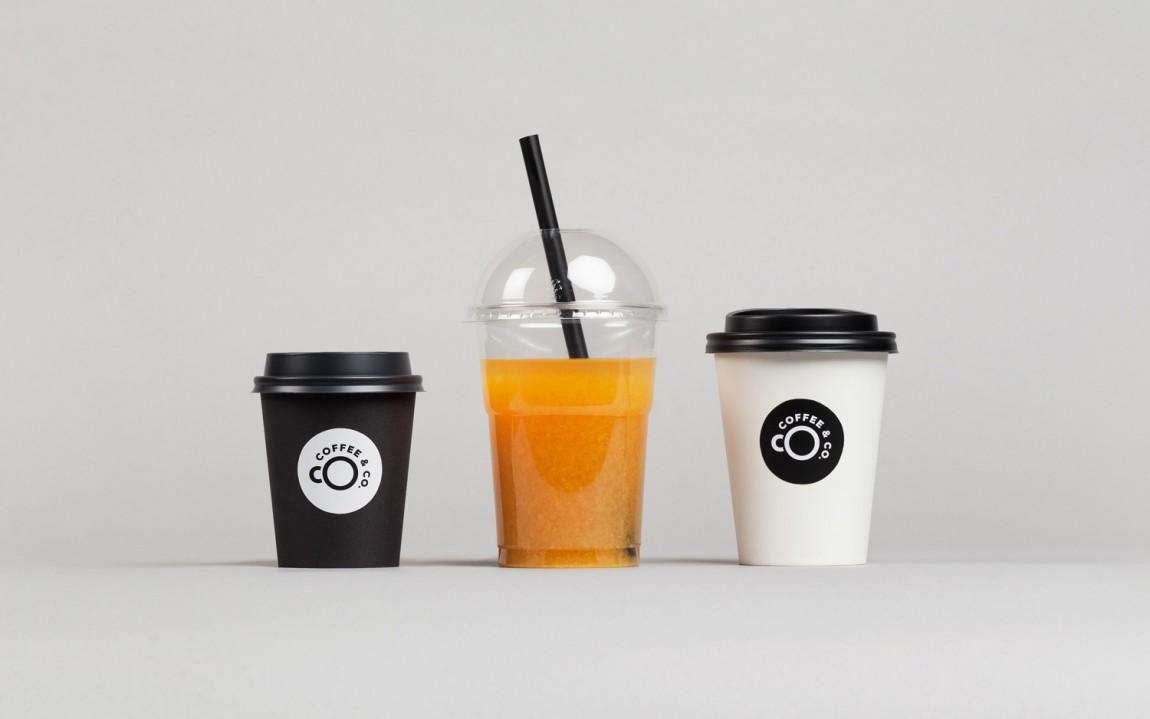 Coffee & Co.创意品牌logo设计:杯子设计