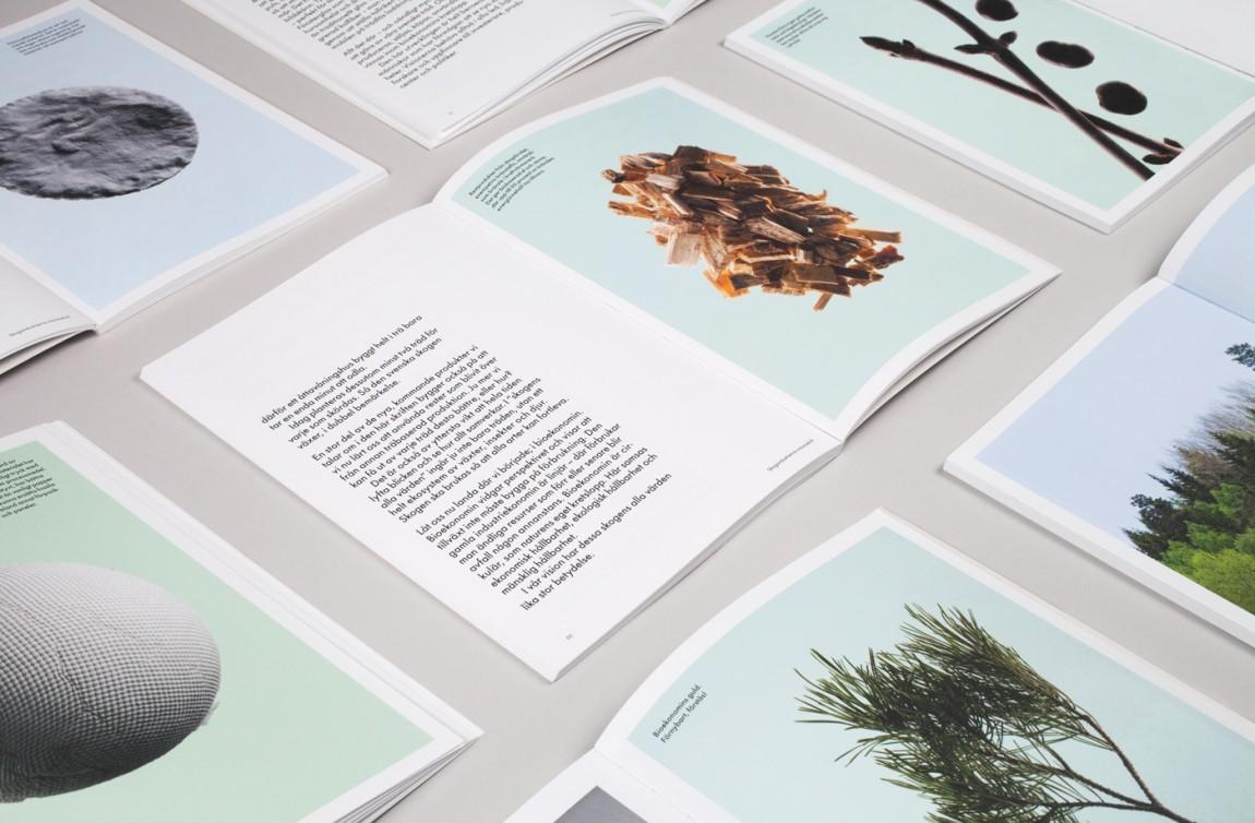 瑞典纸浆造纸公司品牌形象塑造,画册设计