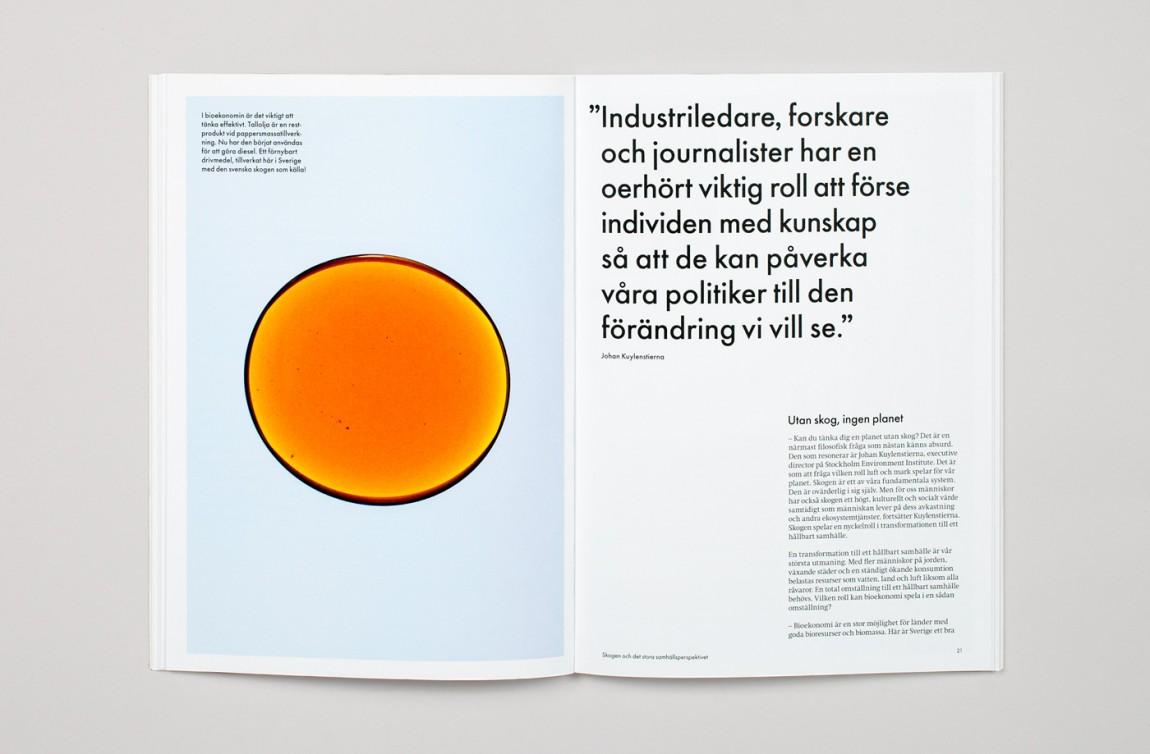 瑞典纸浆造纸公司品牌形象塑造,企业画册设计