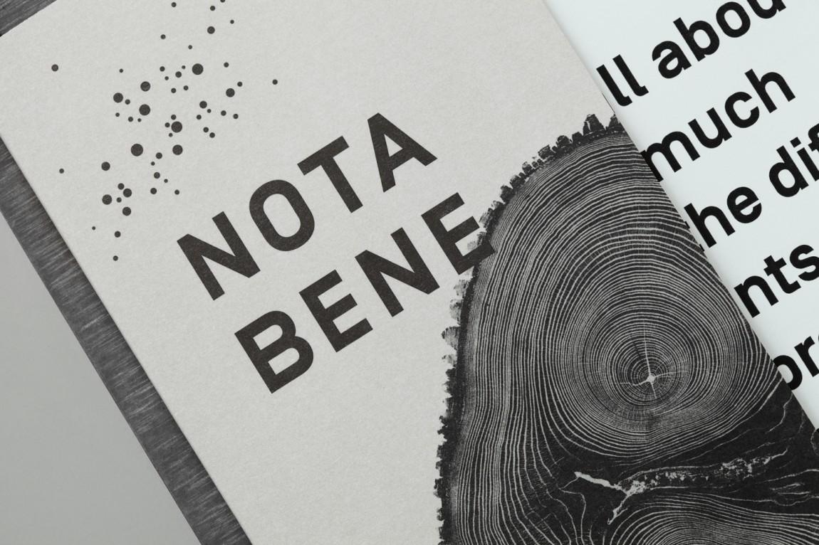 Nota Bene 创意品牌logo设计:菜单设计