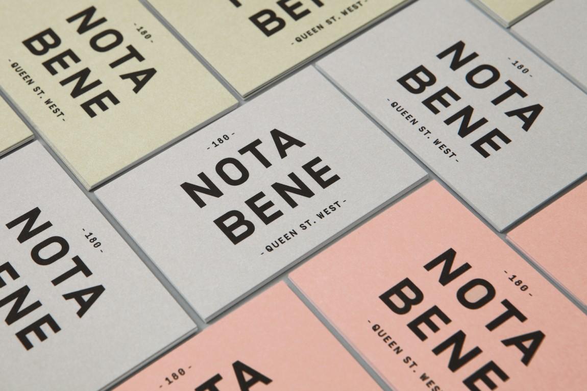 Nota Bene 创意品牌logo设计:明信片设计