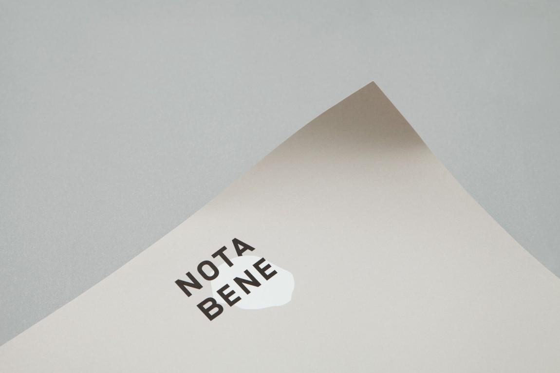 Nota Bene 创意品牌logo设计:纸张设计