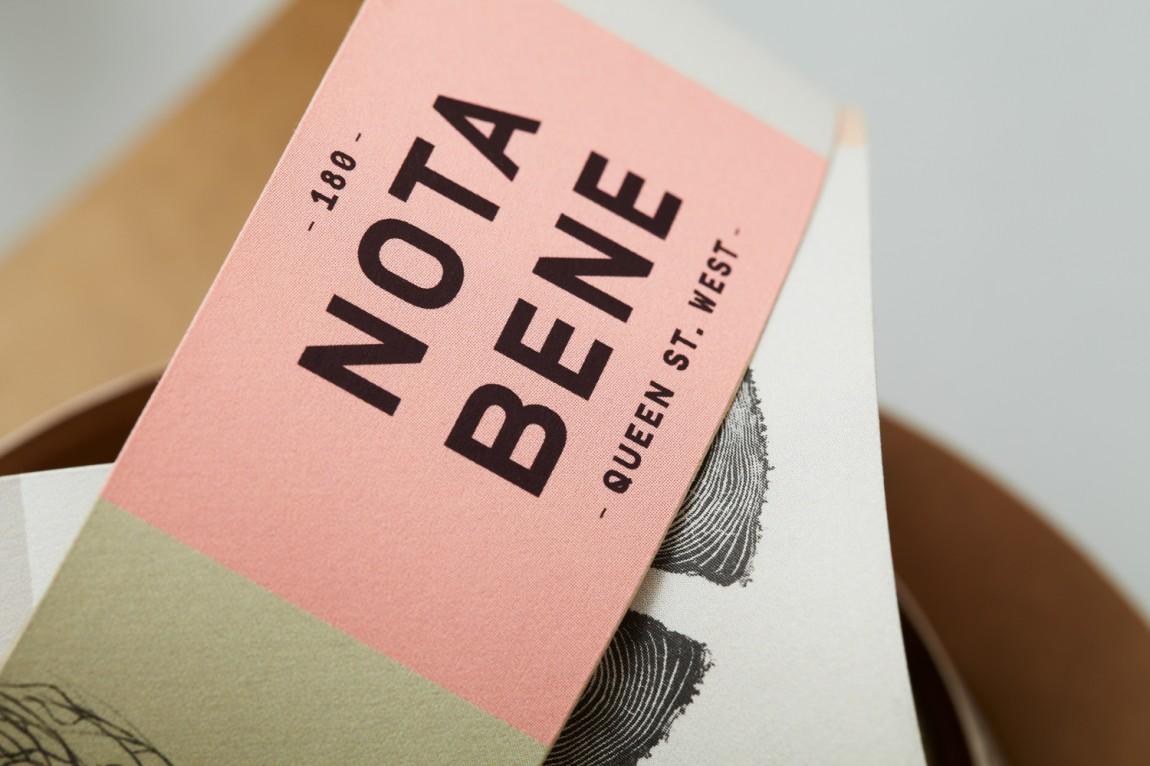 Nota Bene 创意品牌logo设计:包装设计