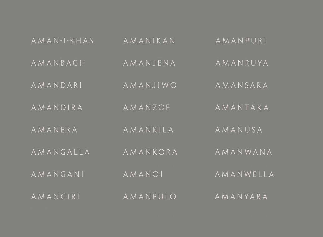Aman 创意品牌logo设计