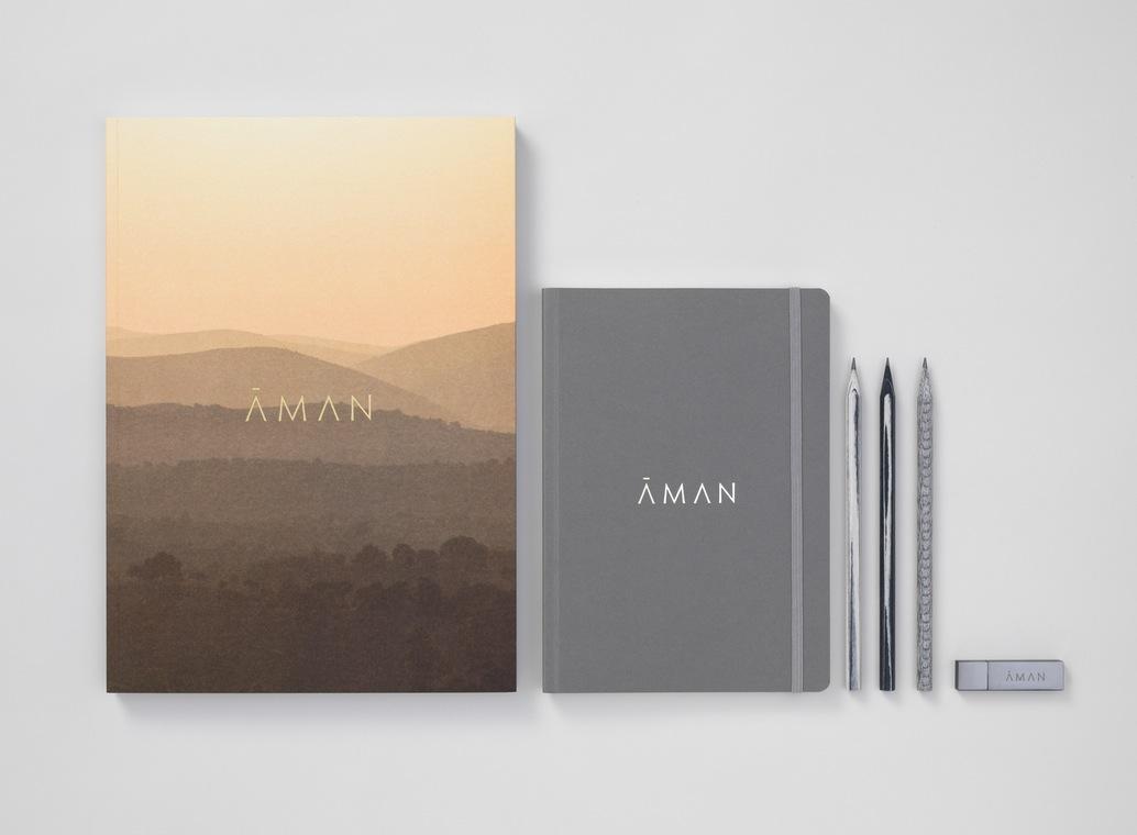Aman 创意品牌logo设计:文具设计