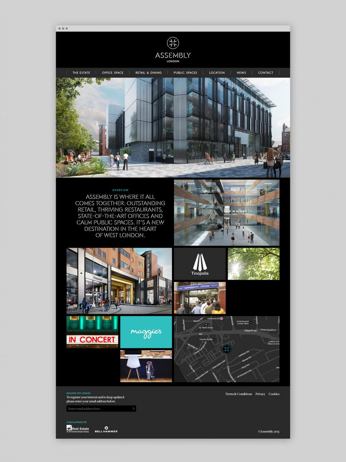 大型开发项目Assembly创意Logo设计:网站设计