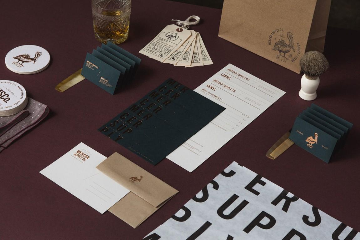 高端美容品牌形象定位设计:文具、手提袋、名片设计