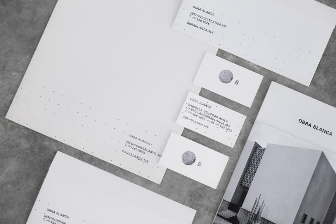 Obra Blanca建筑公司vi设计,企业形象塑造