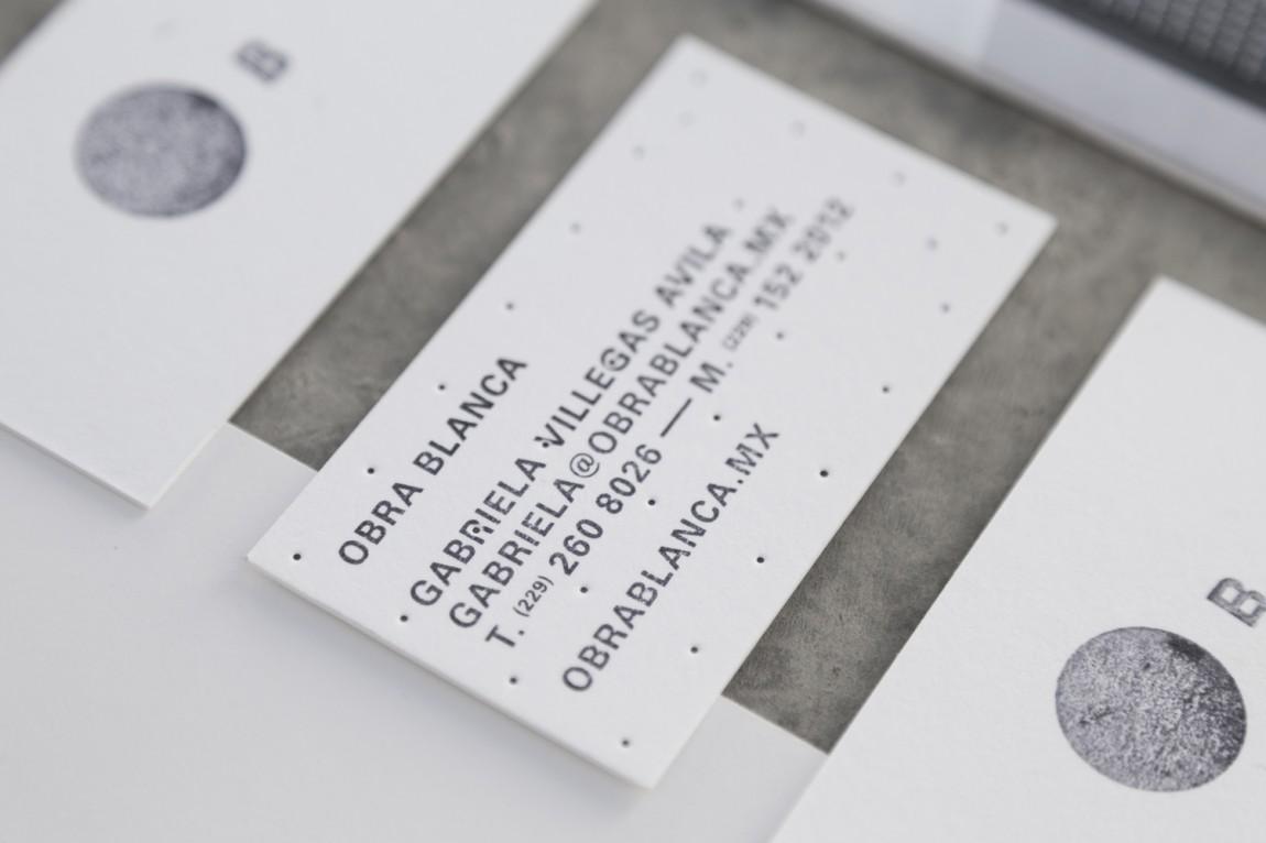 Obra Blanca建筑公司vi设计,名片设计