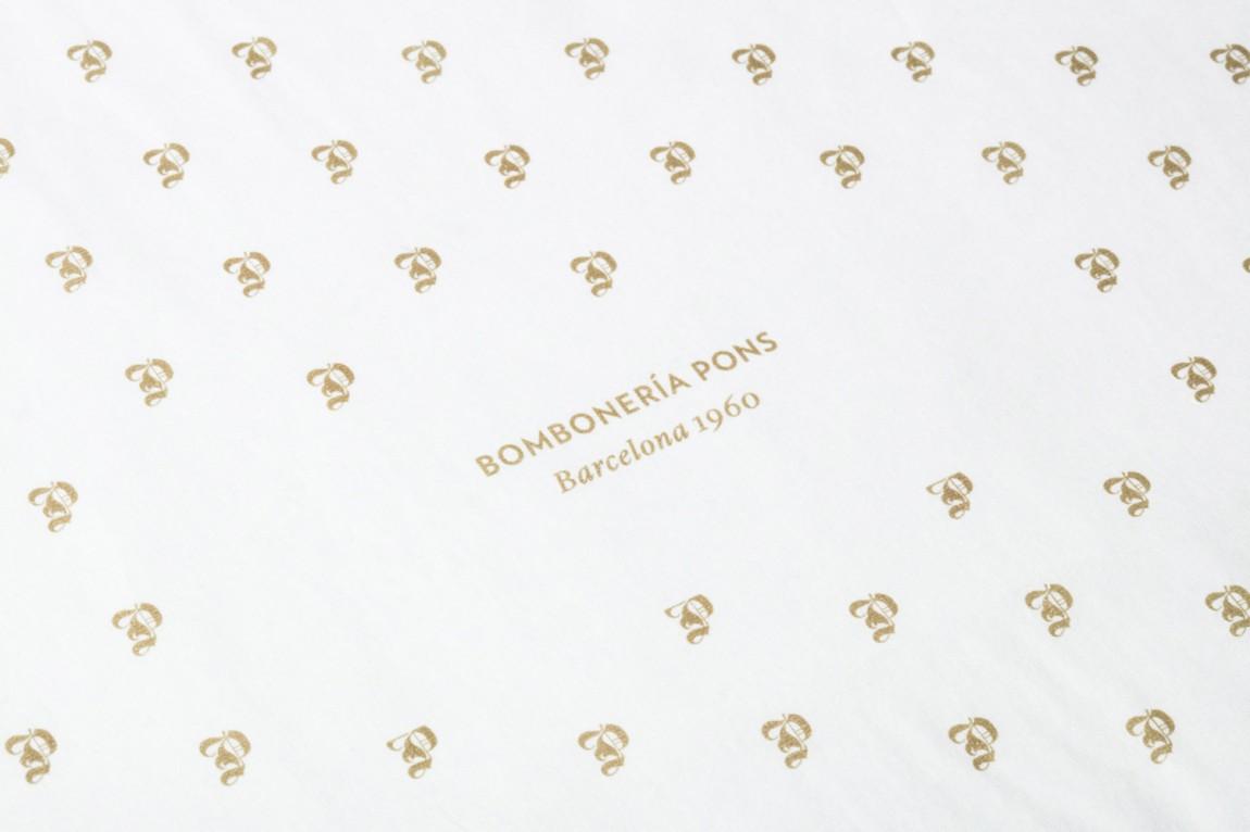 巴塞罗那手工巧克力企业 Bombonería Pons 创意品牌logo设计:logo设计