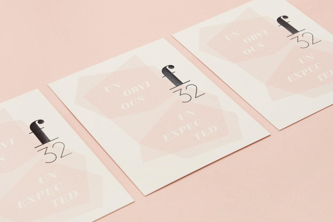 美国潮流观察公司f32 创意品牌设计:名片设计