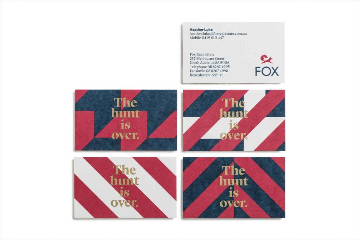 红狐狸精品房地产经纪中介公司品牌设计,名片设计