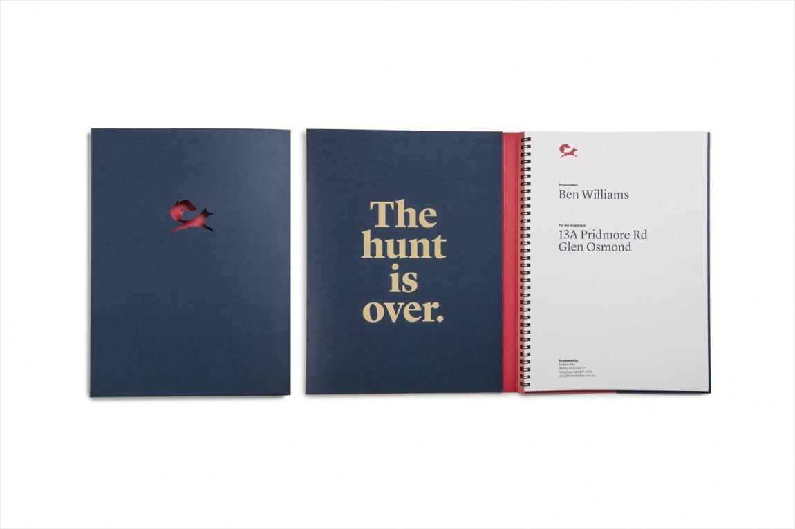 红狐狸精品房地产经纪中介公司品牌设计,笔记本设计