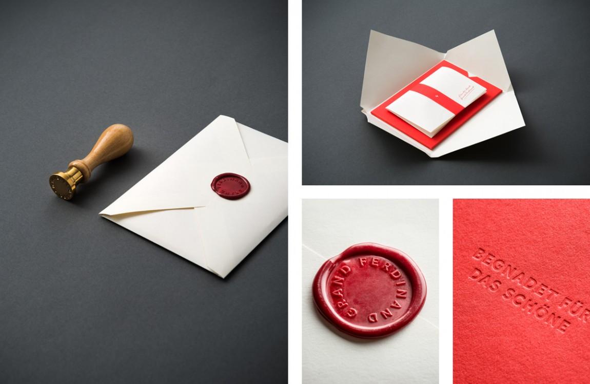 费迪南德酒店vi设计,信封设计