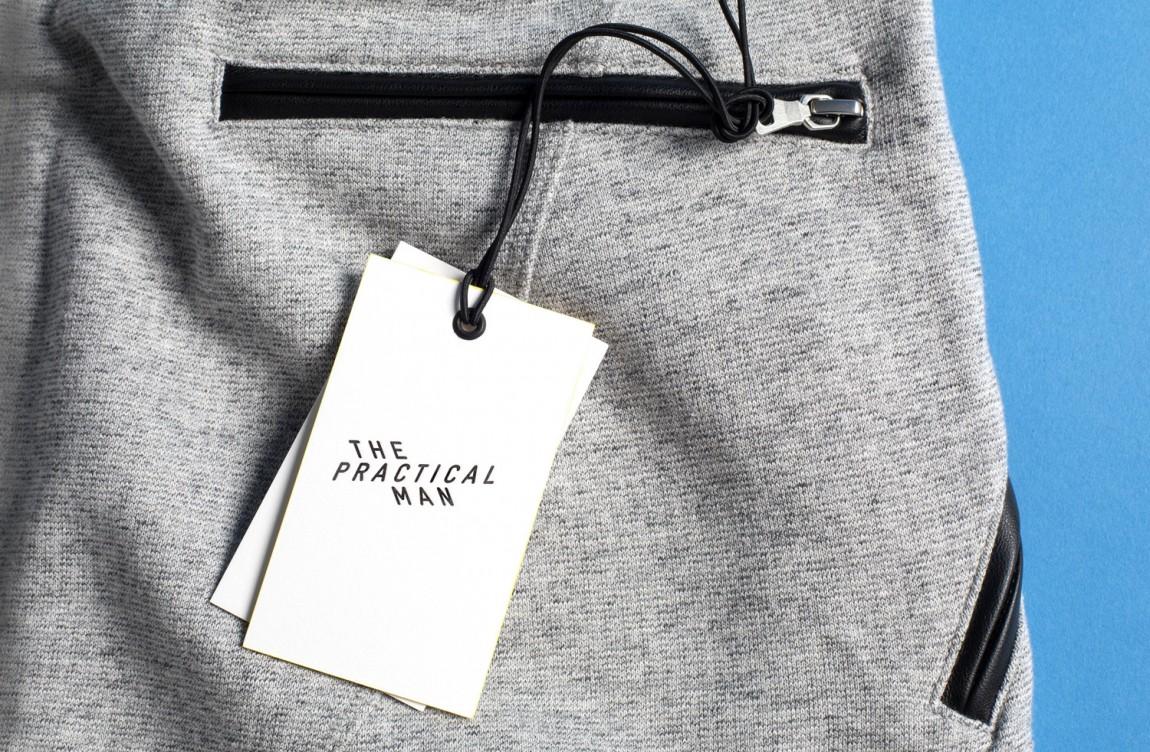 Practical Man创意品牌logo设计:吊牌设计