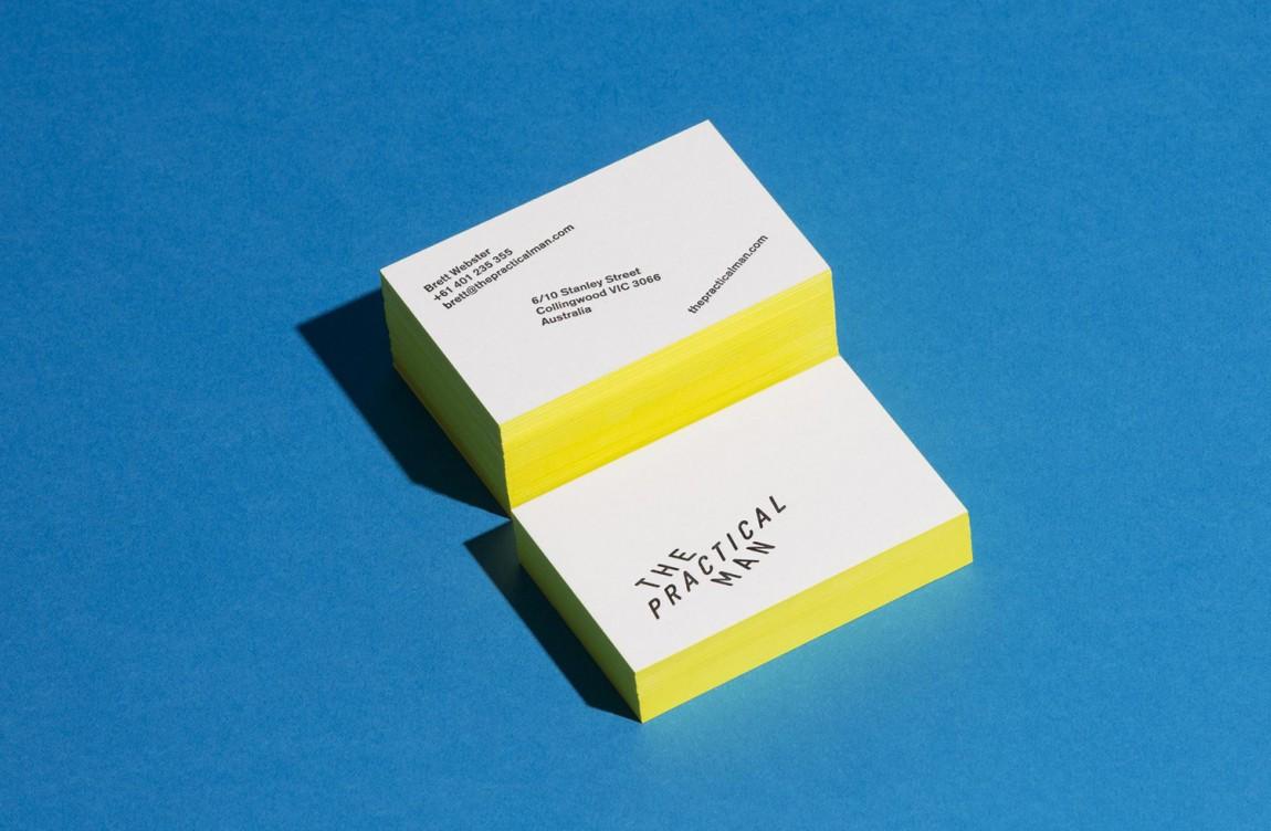 Practical Man创意品牌logo设计:名片设计