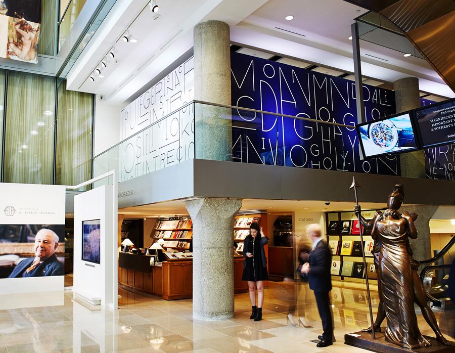 苏富比拍卖会vi形象设计,室内环境视觉设计