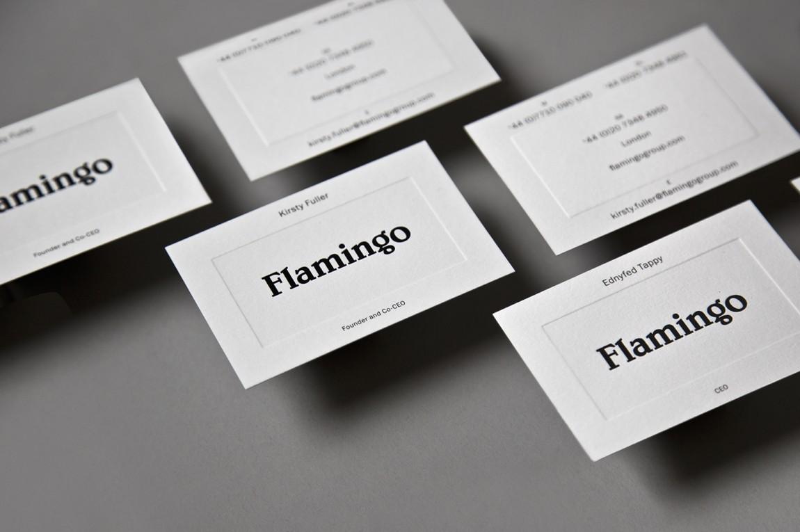 Flamingo 创意品牌logo设计:名片设计