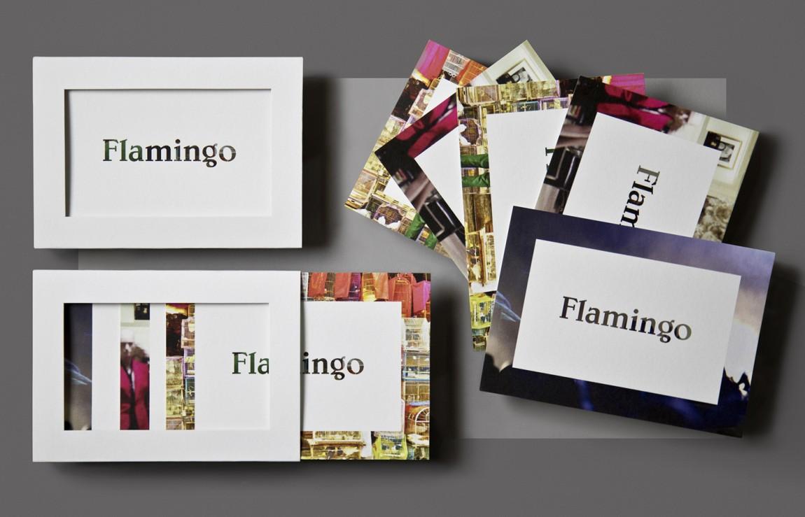 Flamingo 创意品牌logo设计:明信片设计