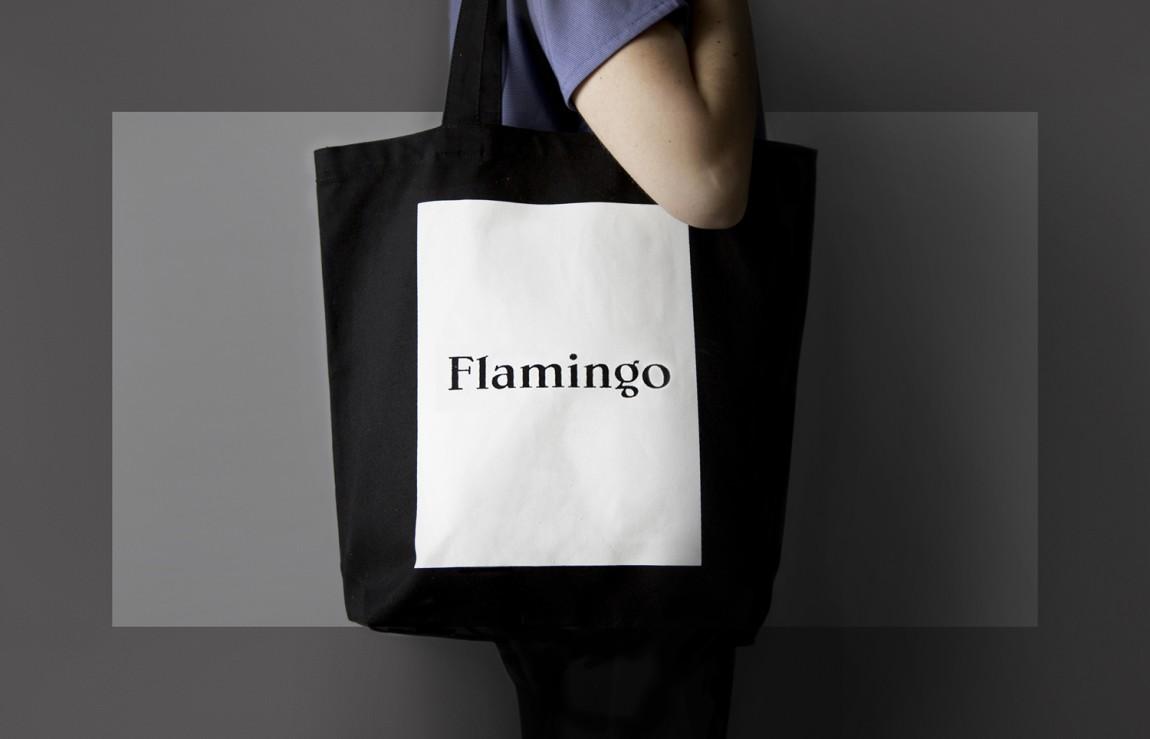 Flamingo 创意品牌logo设计:手提袋设计
