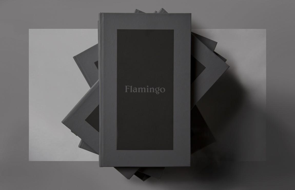 Flamingo 创意品牌logo设计:书籍封面设计
