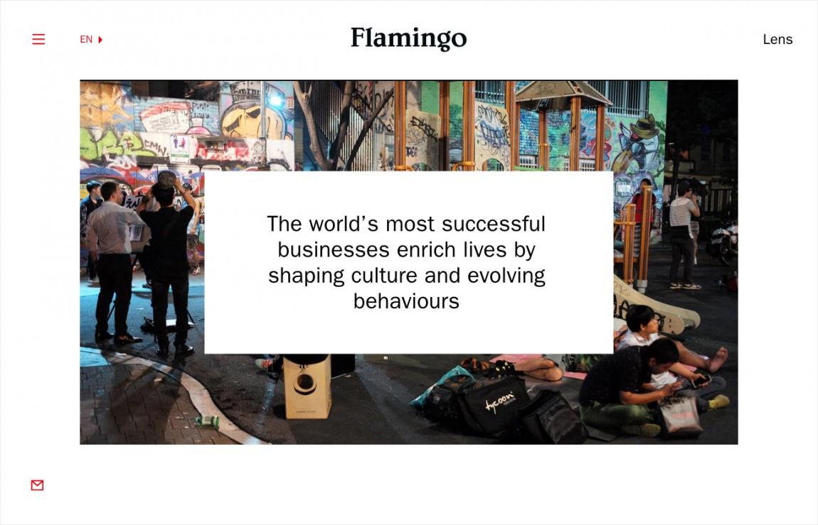 Flamingo 创意品牌logo设计:在线展示设计