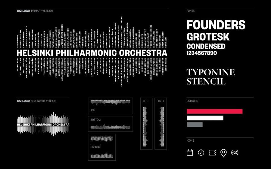 赫尔辛基爱乐乐团品牌形象设计:个人资料海报设计