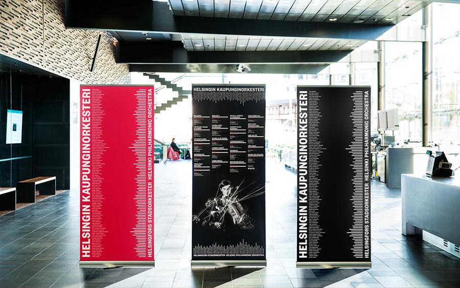 赫尔辛基爱乐乐团品牌形象设计:海报设计